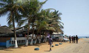 Lieu de l'attentat sur la plage Bassam