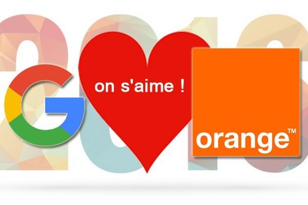 Partenariat Orange Google