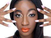Femmes ongles résistant