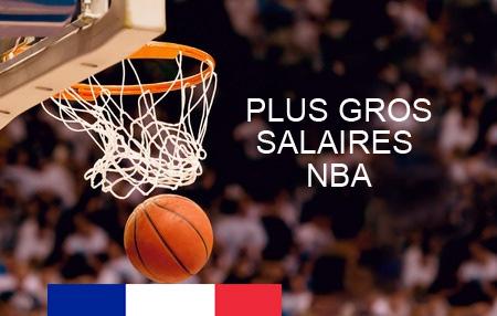 Plus gros salaires Français en NBA basket