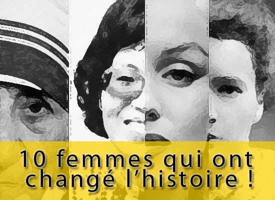 10 femmes les plus influentes de l'histoire