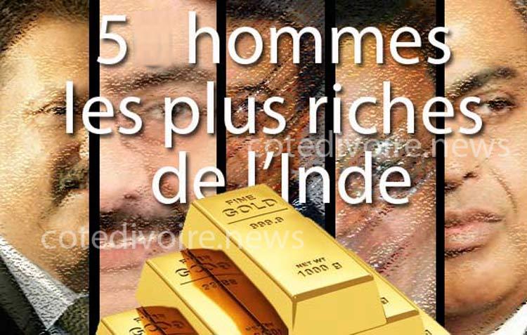 5 hommes riches Inde