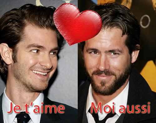 Ryan Reynolds et Andrew Garfield, gays ou gaies ?