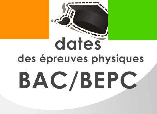Les dates des épreuves physiques des examens du BAC et du BEPC enfin connus
