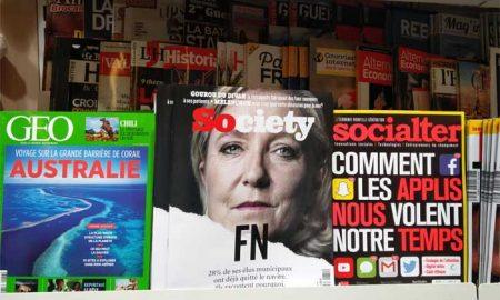 Marine Le Pen fait la une de Society