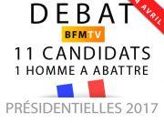 Débat sur BFM TV à 20h40 en direct