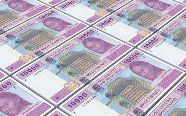 Ici est présenté le Franc CFA de centre Afrique