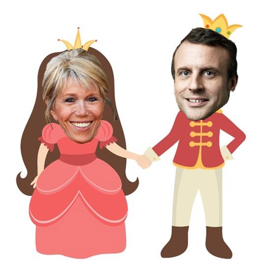 Emmanuel Macron est élu nouveau président de la France, ci-dessus avec la nouvelle première Dame Brigitte Macron.