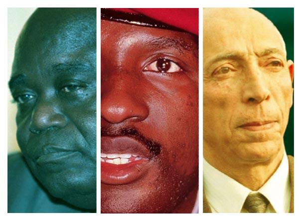 Voici le classement des 5 présidents morts pendant leurs mandats, trois présent ci-dessus :  Laurent-Désiré Kabila, Thomas Sankara et Mohamed Boudiaf.