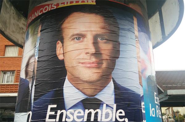 Macron est élu président de la république française en gagnant largement dans les sondages cette élection présidentielle 2017.