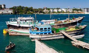 Plage port à Mombasa