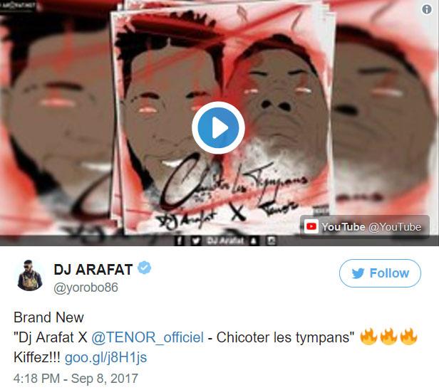 Photo de la dernier vidéo d'Arafat, de son compte twitter.com/yorobo86