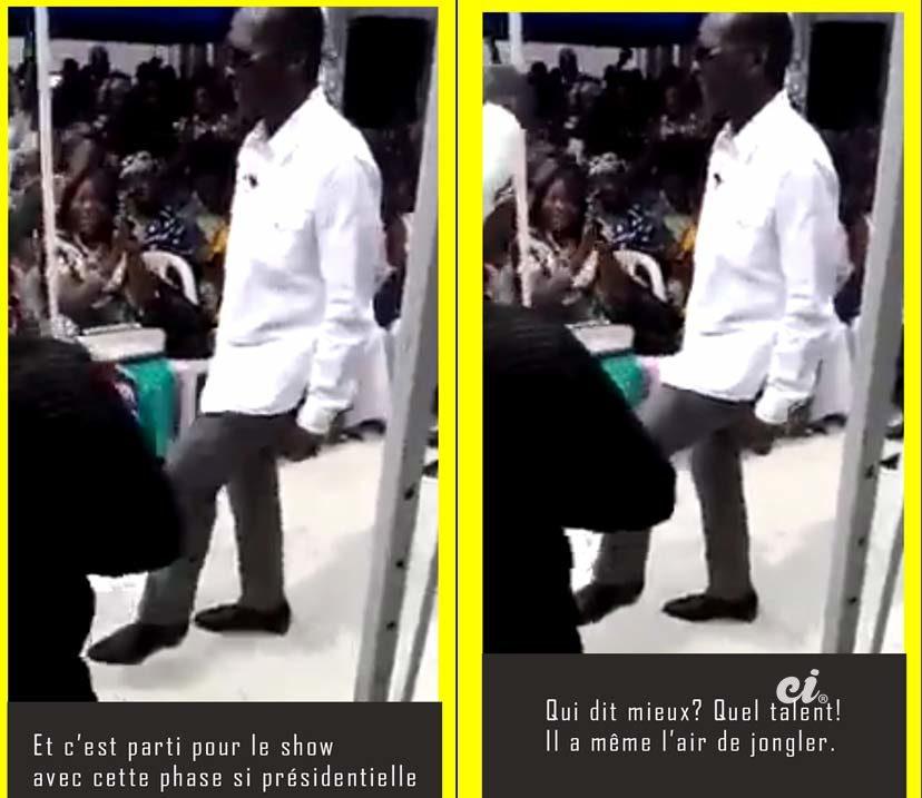 Patrice Talon président du Bénin danse