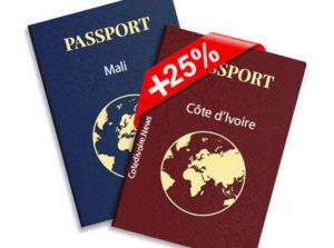 Passports plus chers africain pays