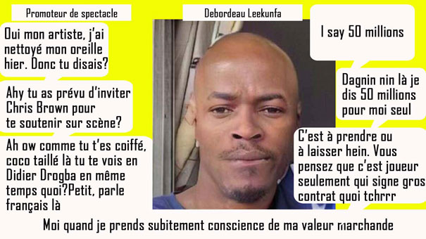 Riche Debordeau Leekunfa 50 000 000 million