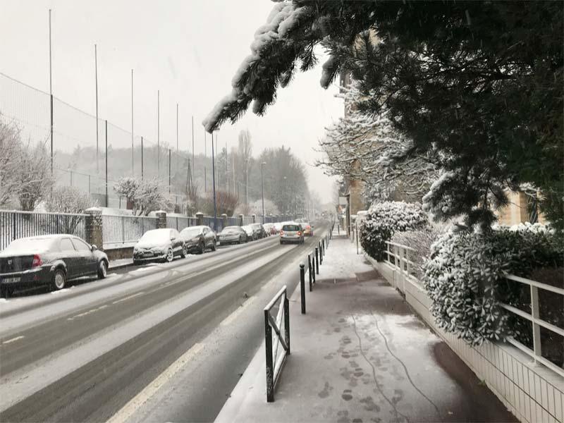 épisode neigeux région parisienne