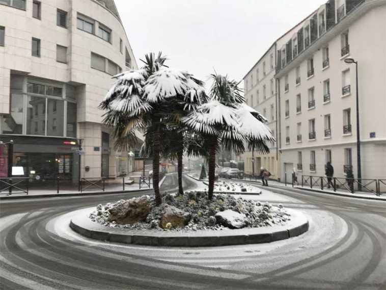 Région parisienne épisode neigeux Paris