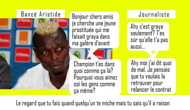 Aristide Bance avis recherche