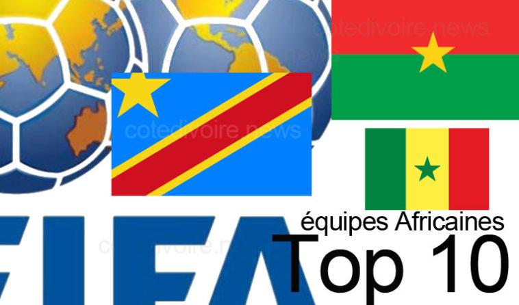 10 équipes Africaines FIFA