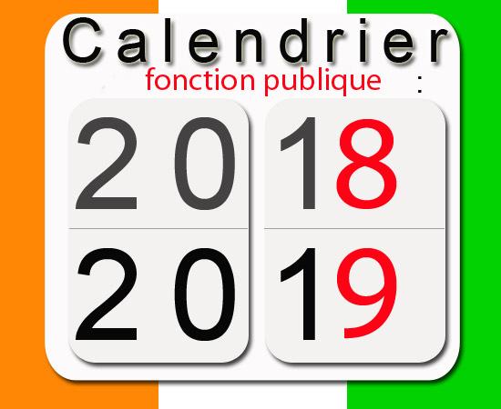 Calendrier fonction publique 2018 ci