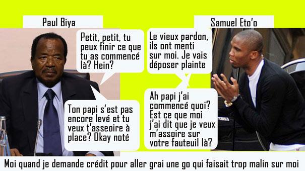 Eto'o et Paule Biya Président