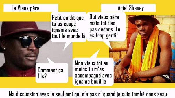 Ariel Sheney roi coupé décalé