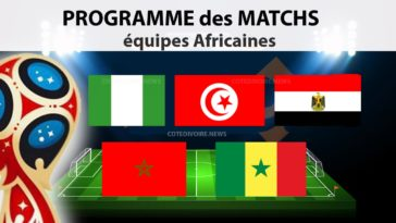 Equipe Africaine calendrier