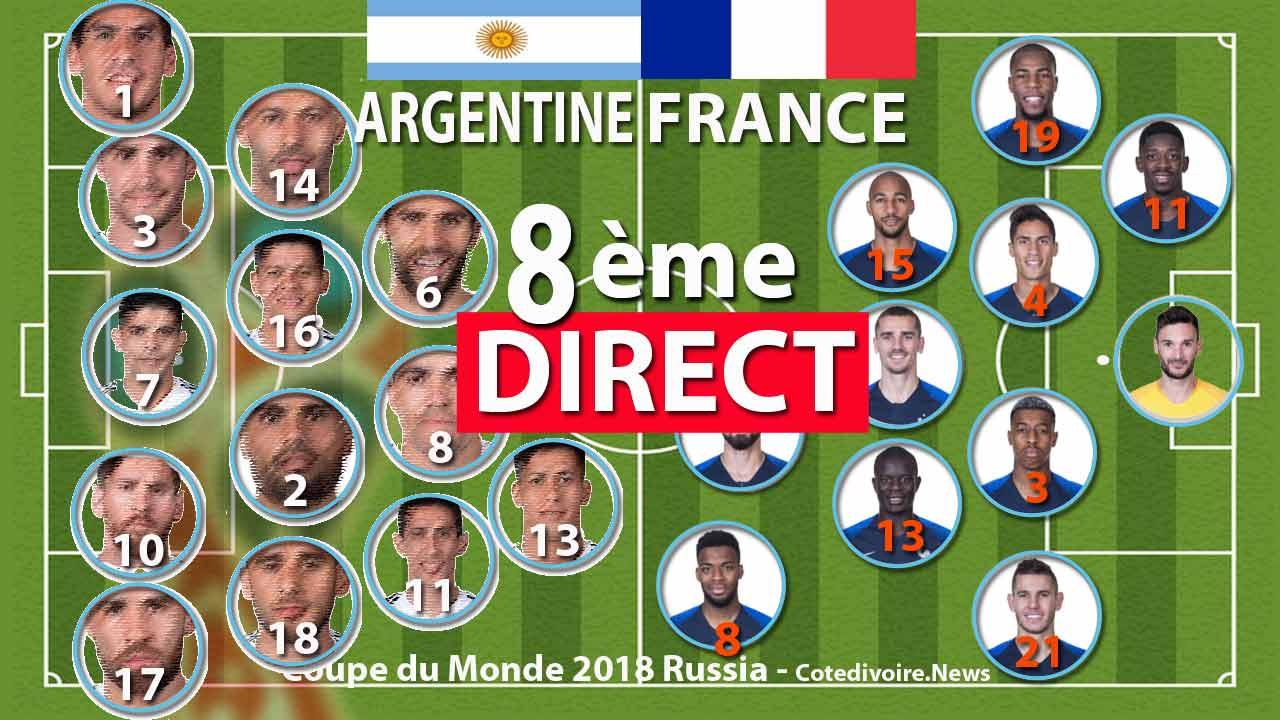 Match france argentine suivre en direct coupe du monde 2018 - Match de coupe de france en direct ...