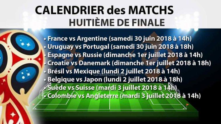 Huitième finale coupe monde 2018