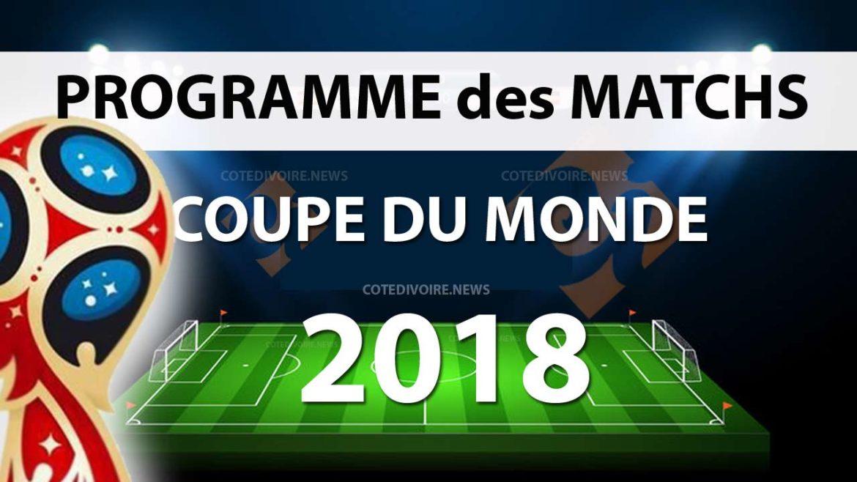 Programme matchs équipe mondial