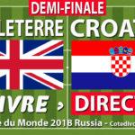 Match : Croatie Angleterre