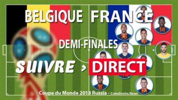 Match France Belgique coupe du monde 2018