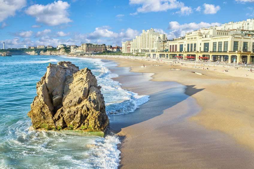 Plage ville Biarritz
