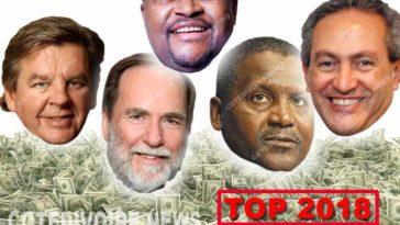 Top Hommes riches Afrique 2018