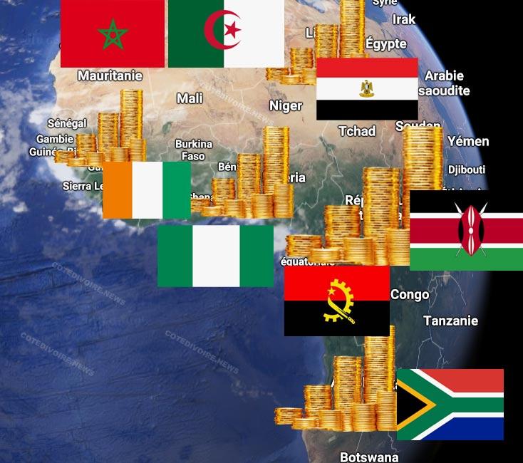 Les Pays riches d'Afrique