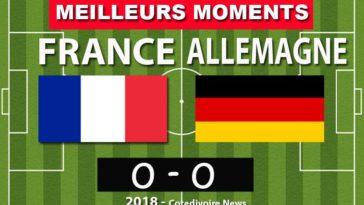 Résume score match France