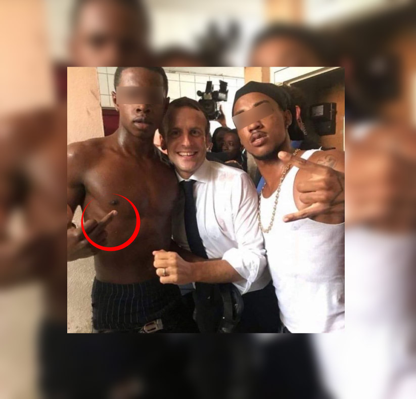 Le doigt d'honneur président Macron