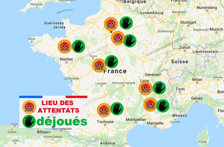 Attentats déjoués en France