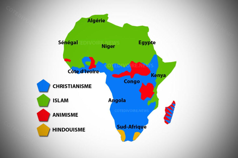 Carte religion Afrique