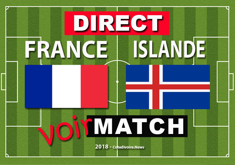 Match Islande contre la France en direct
