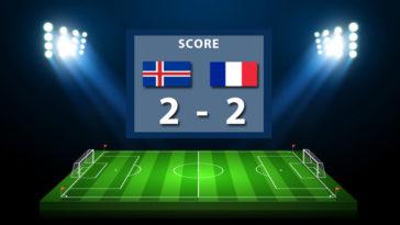 Score : 2 à 2 but Mbappé