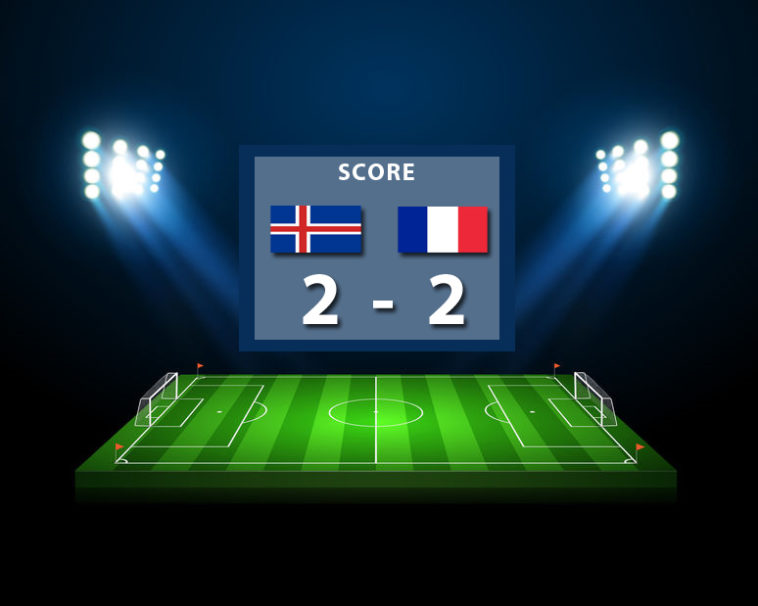 Score : 2 à 2 but Mbappé