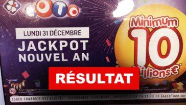 Résultat Loto du 31 12 2018