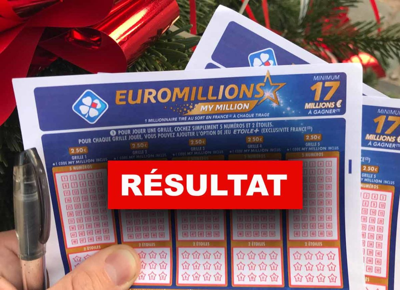 Tirage et résultat de l'Euromillion 14 12 18