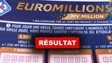 Résultat de l'euromillion du 25 01 2019