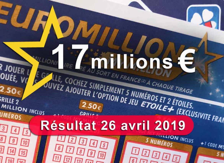 Euromillion 26-04-19