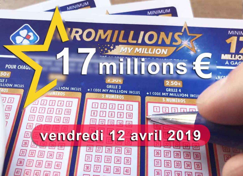 Tirage du vendredi Euromillions 12 4 19
