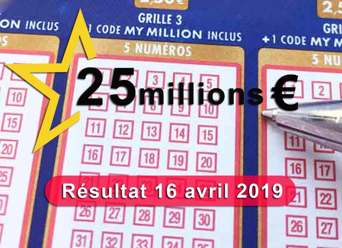 Tirage Euromillions 16 04 19