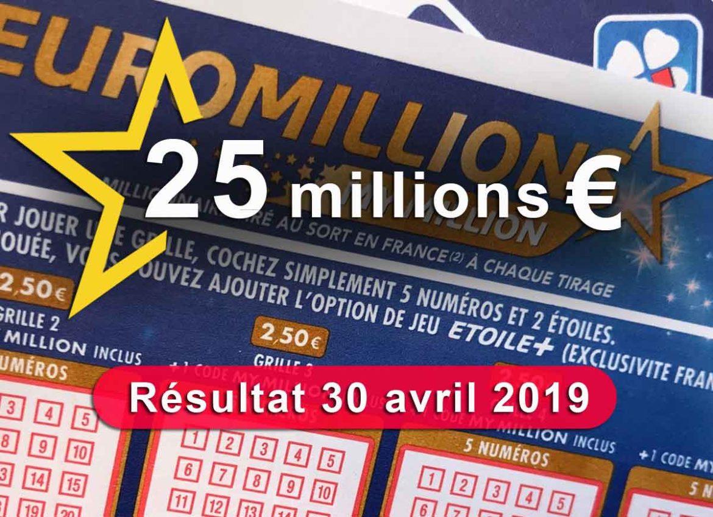 Tirage Euromillions du 30 04 19