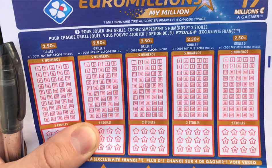 Grille de l'Euromillion pour Cagnotte du 9 aout